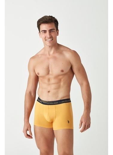 U.S. Polo Assn. Erkek 2 Li Boxer Sarı